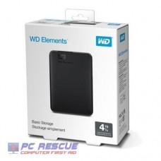 """Western Digital Elements 4TB 2.5"""" External USB3.0 HDD"""